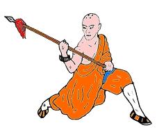 Mönch mit Speer